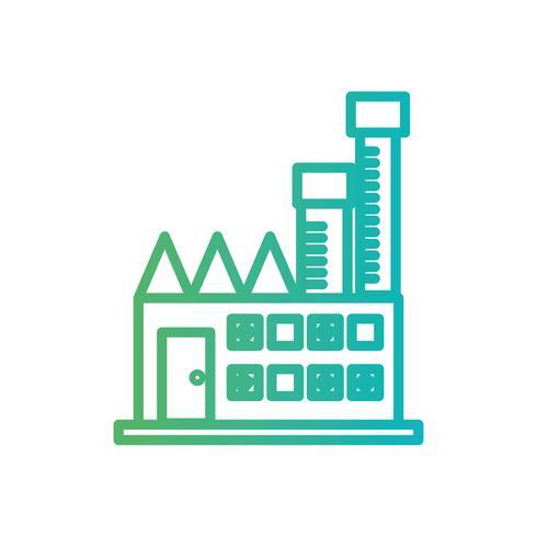 Linie giftige Fabrikverschmutzung Industrie vektor