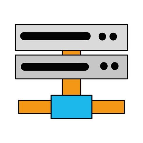datanätverk swich uplink-bagageutrymme vektor