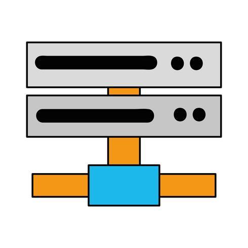 Datennetz swich Uplink Trunk vektor