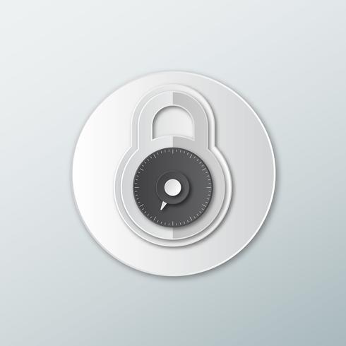 rund låsikon vektor