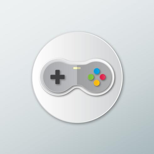 Icon Joystick für Spiele .Gamepad. vektor