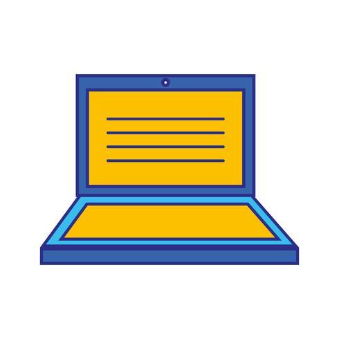 laptop elektronisk teknologi med skärmdesign vektor