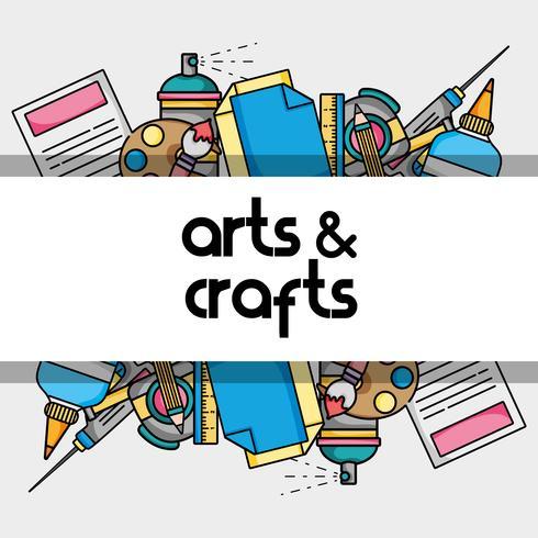 Kunst und Handwerk kreatives Objektdesign vektor