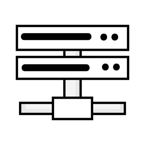 linjen datanätverk swich uplink trunk vektor