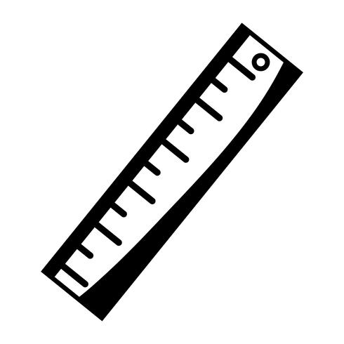 kontur linjal design till skolverktyg utbildning vektor
