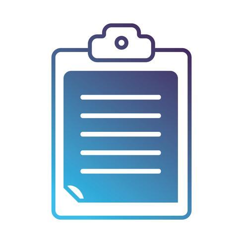 Silhouette Checkliste Geschäftsdokument in der Zwischenablage Design vektor