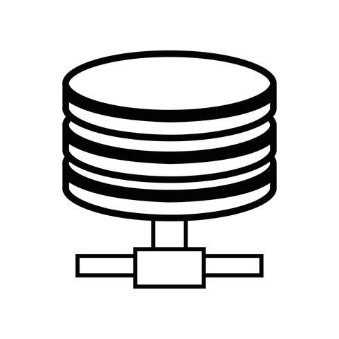 linje hårddiskteknologi datalagring vektor