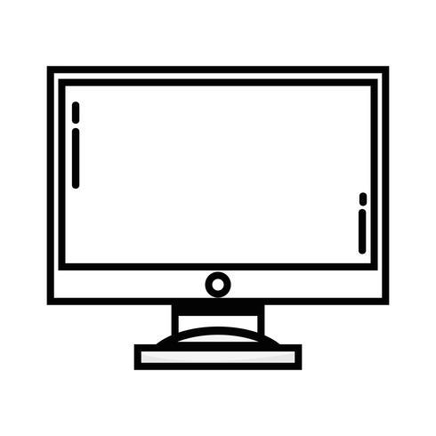 linje datorskärm elektronisk teknik vektor