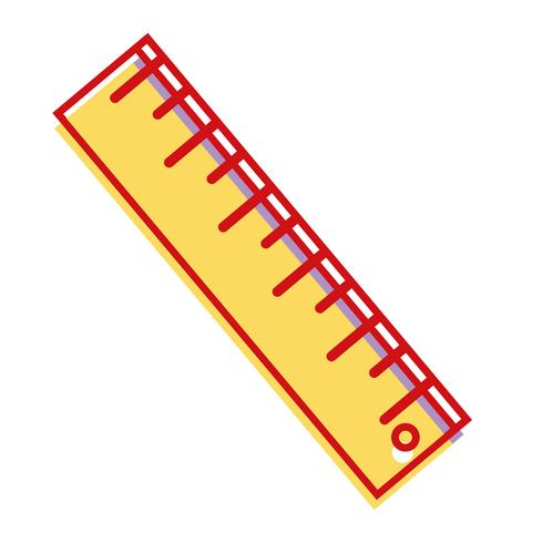 Linealentwurf zur Schulwerkzeugausbildung vektor