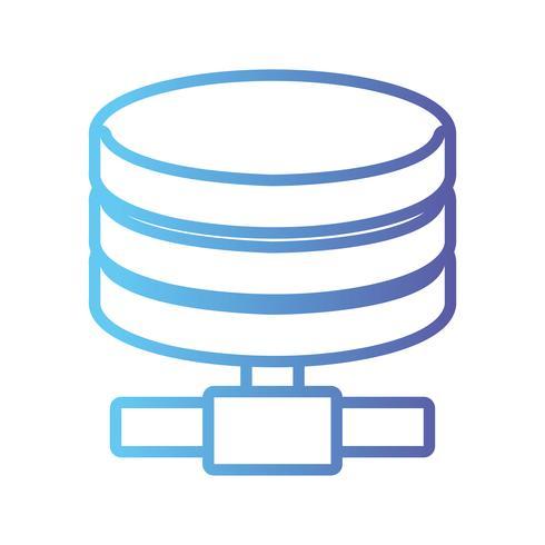 Line-Festplatten-Technologie Datenspeicherung vektor
