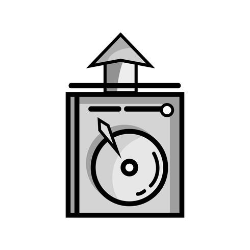 Graustufendaten-HDD-System-Server-Technologie vektor