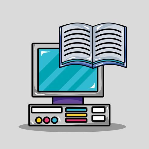 skolutrustning design för att studera och lära sig vektor