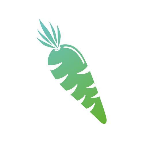 Kontur Bio Karotten Gemüse Ernährung vektor