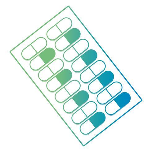 linje medicinska farmaceutiska piller behandling vektor