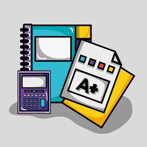 Schulutensilien Design zu studieren und zu lernen vektor