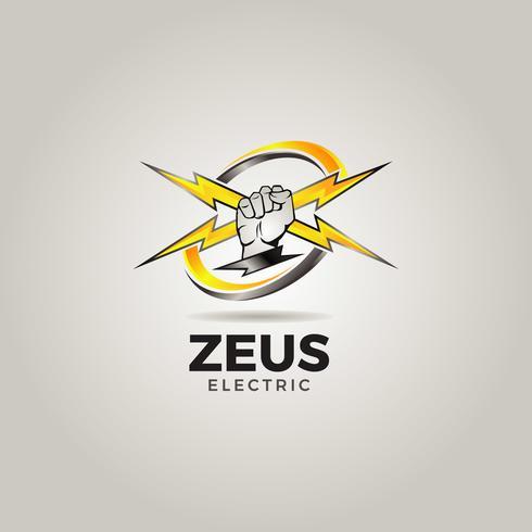Elektrisk servicelogotyp vektor