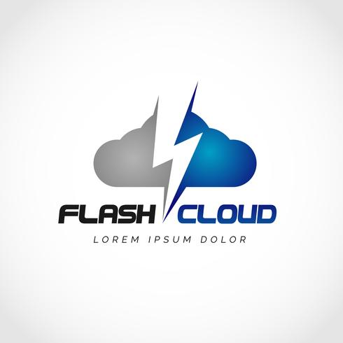 Flash Cloud-logotyp vektor