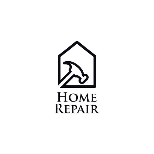 Hemreparation Line Art Logo vektor