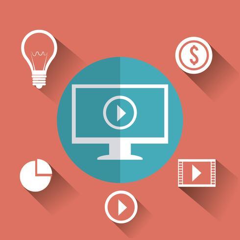 Sociala medier marknadsföring vektor