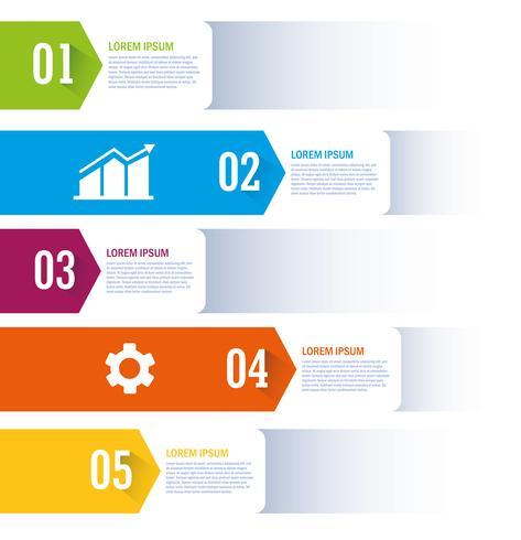 Isolerat arbetsflöde och infographic design vektor