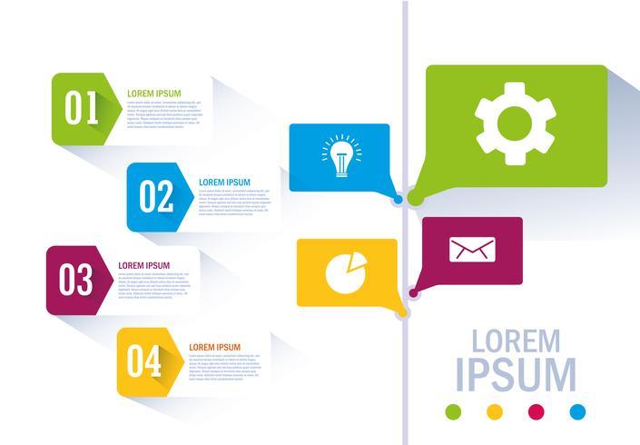 Isolierte Workflow und Infografik Design vektor