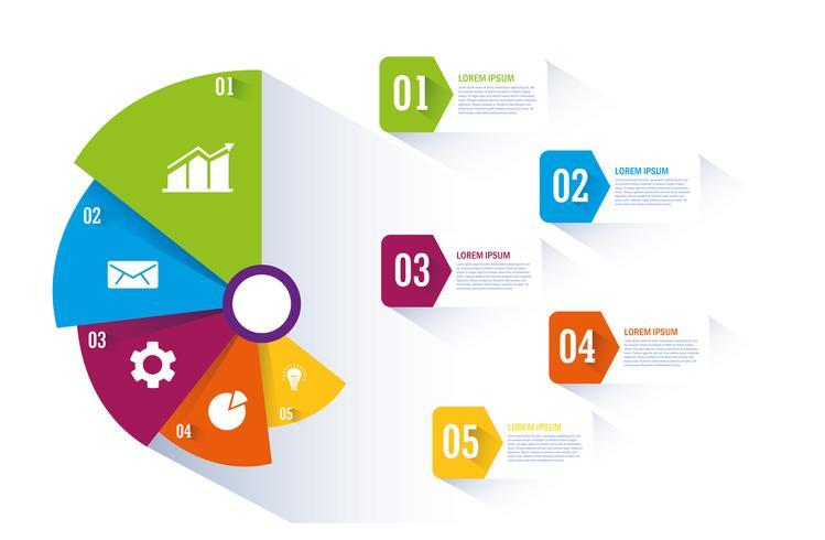 Graf och infographic design vektor