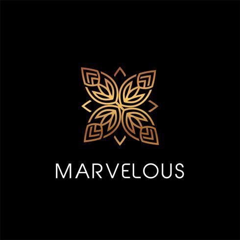 Blommig elegant logotyp vektor