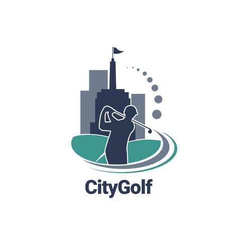 Stadt-Golf-Logo vektor