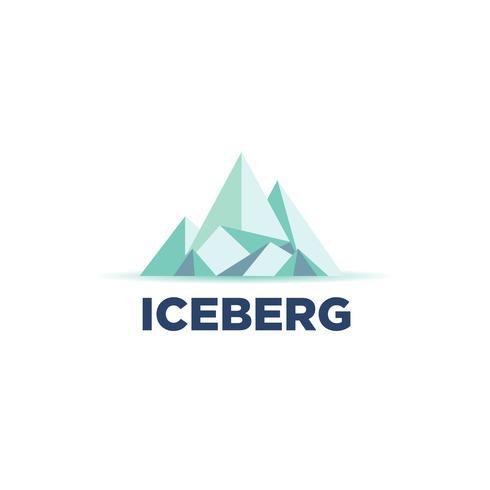 Kühles Eisberg-Logo vektor