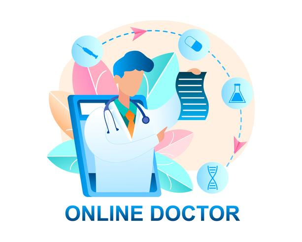 Online Arzt Beratung Patienten vektor