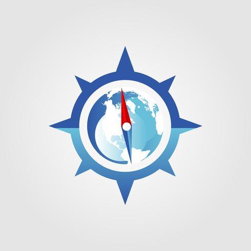 Global kompasslogotyp vektor
