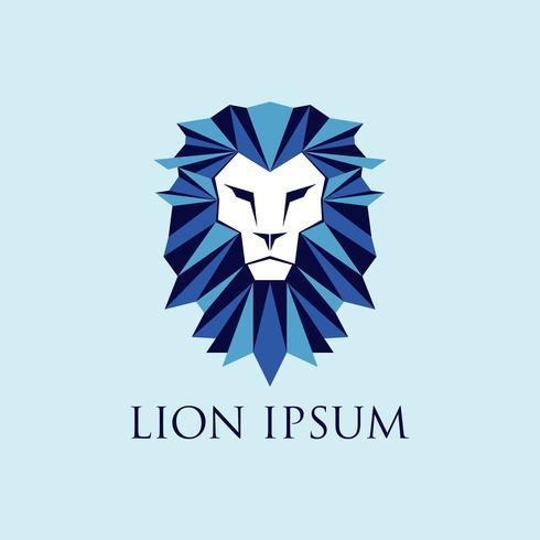 Blå lejonlogotyp vektor