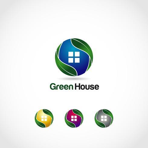 Green House-logotypen vektor