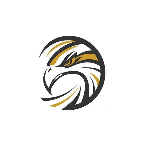 cirkel örn hav hök logotyp vektor