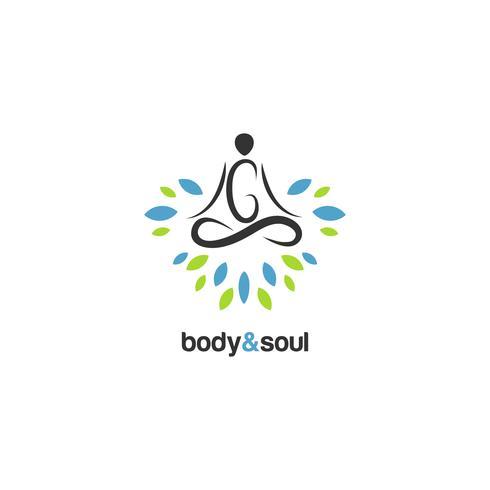 Meditation-Logo vektor