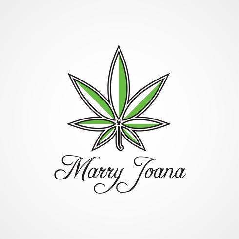 Umriss Cannabis-Logo vektor