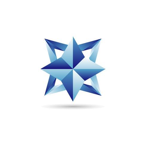 Blaues Stern-Logo vektor