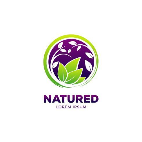 Naturens hälsosamma livslogotyp vektor