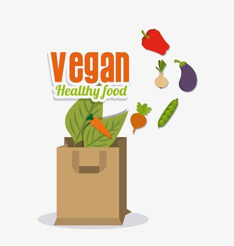 Logoentwurf des veganen Lebensmittels. vektor