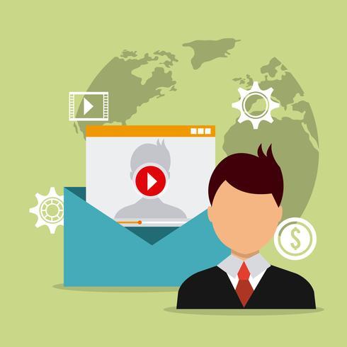Digital marknadsföring vektor