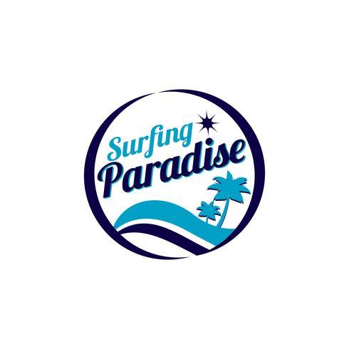 Surfa Paradise-logotypen vektor