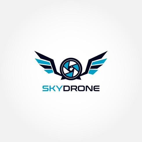 Sky Drone-logotyp vektor