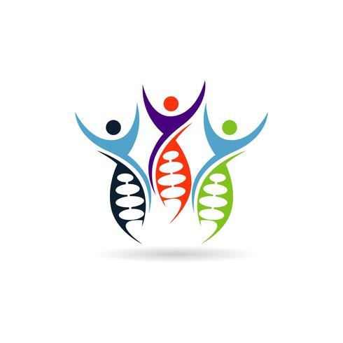 Mänsklig DNA-logotyp vektor