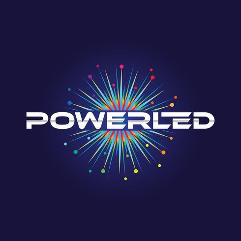 Färgglada Power Led-logotyp vektor