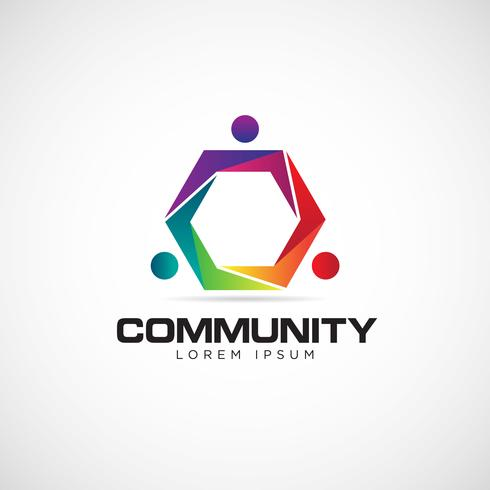hexagon community logo vektor