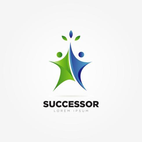 Affärsframgång People Logo vektor