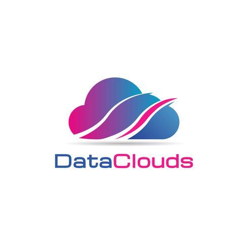 data moln logotyp vektor