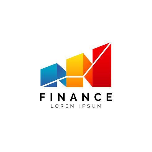 Finansdiagramlogotyp vektor