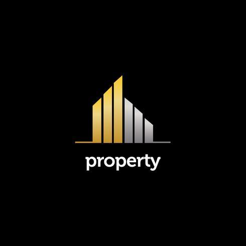 Elegant fastighetslogotyp vektor