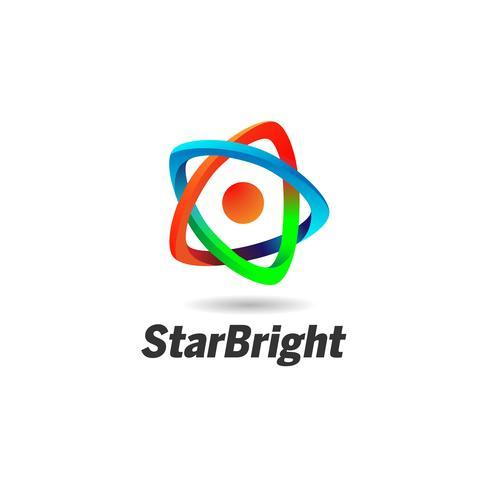 Abstrakt Star Looping-logotyp vektor